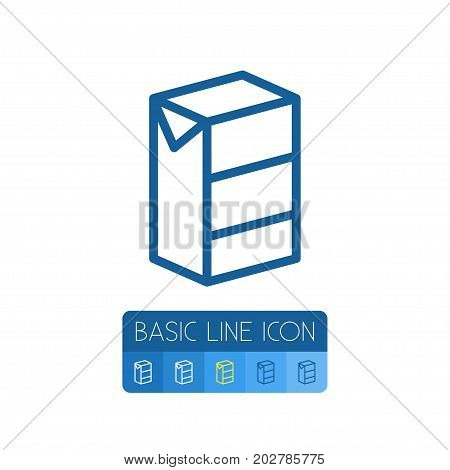 Pocket Milk Vector Element Can Be Used For Milk, Pocket, Breakfast Design Concept.  Isolated Paper Box Outline.