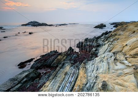 Bean Hollow State Beach Twilight. Pescadero, San Mateo County, California, USA.