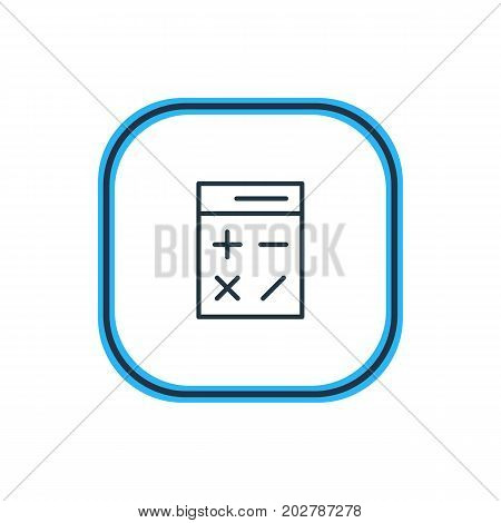 Beautiful Instruments Element Also Can Be Used As Calculate   Element.  Vector Illustration Of Calculator Outline.