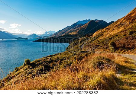 Sunbeam At Bennetts Bluff Lookout At The Genorchy-queenstown Road Offers Views Of Glenorchy From The
