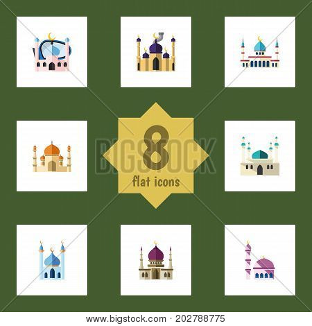 Flat Icon Minaret Set Of Architecture, Islam, Muslim And Other Vector Objects