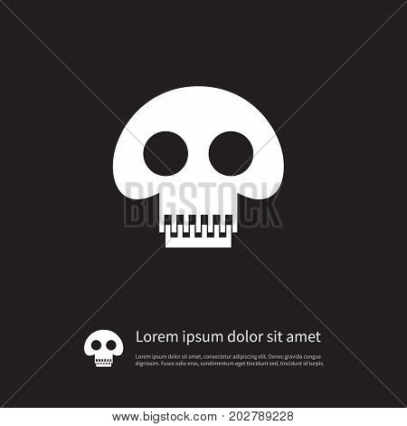 Scary Vector Element Can Be Used For Skull, Pirate, Scary Design Concept.  Isolated Pirate Icon.