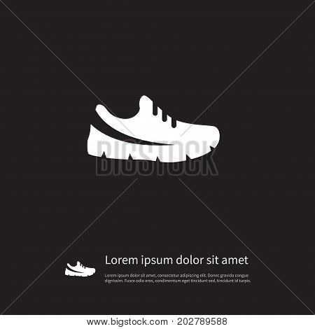 Gumshoes Vector Element Can Be Used For Sneakers, Gumshoes, Footwear Design Concept.  Isolated Sport Footwear Icon.
