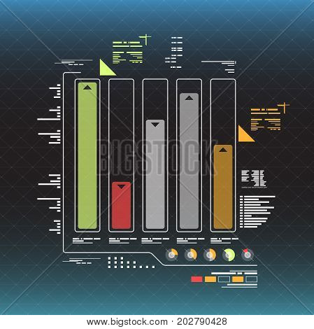 info graphic elements. futuristic user interface HUD for web and app