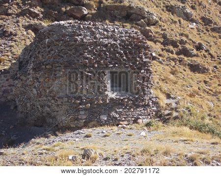 World War 2 Bunker in the french alps above Isola 2000