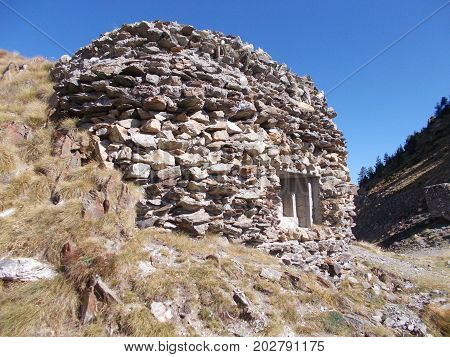World War 2 Pillbox in the french alps near isola 2000
