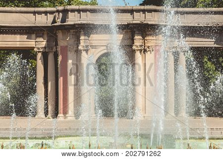Detail Of The Architecture Of The Fountains Of Dona Casilda Park