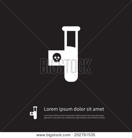 Toxic Vector Element Can Be Used For Dangerous, Toxic, Poison Design Concept.  Isolated Dangerous Icon.