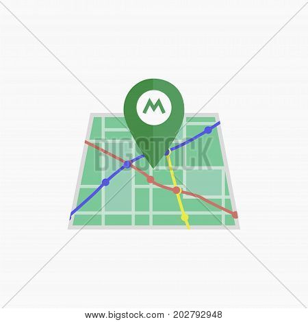 Vector metro icon. Isolated map. eps jpg