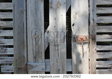Wooden door of a corn crib.  Port Oneida Rural Historic District, Sleeping Bear Dunes National Lakeshore, Michigan