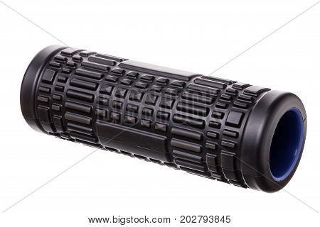 Myofascial with spines, rubber roller for self-massage. On a white background.