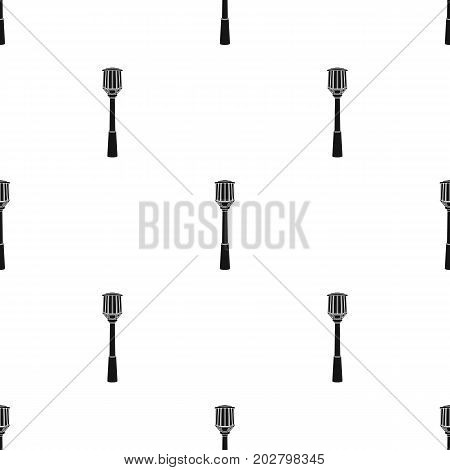Street lights in retro style. Lamppost single icon in black style vector symbol stock illustration .