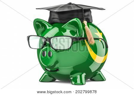 Savings for education in Mauritania concept 3D rendering isolated on white background