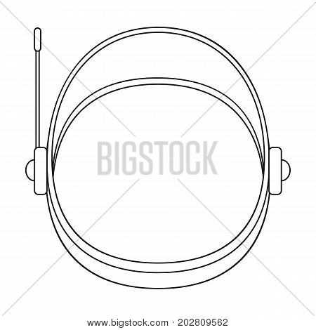 Protective helmet cosmonaut. Space technology single icon in outline style vector symbol stock illustration .