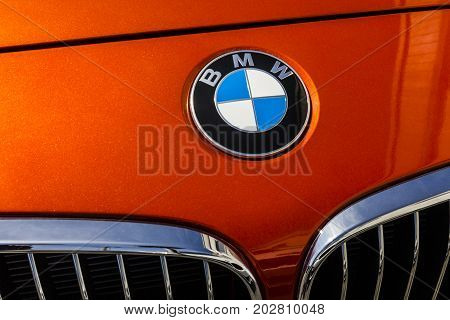 Indianapolis - Circa September 2017: Local BMW car dealership. BMW builds luxury and electric vehicles and is based in Germany V