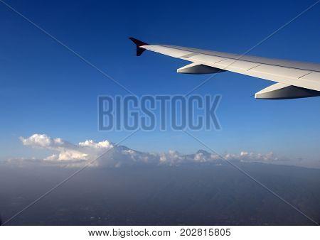 Aerial image of Mount Kilimanjaro, from Kenya