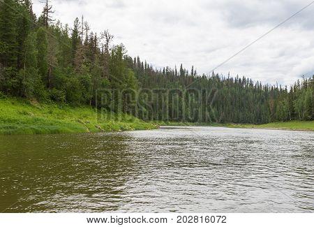 The small rivers of Siberia. Krasnoyarsk region, Russia
