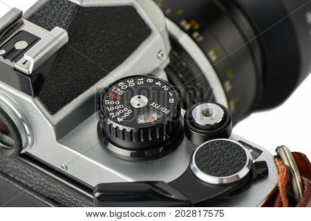 Closeup Of Shutter Speed Dial On A Classic Camera