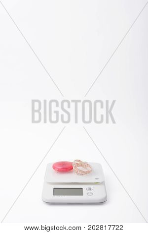 White Food Scales And Tapeline