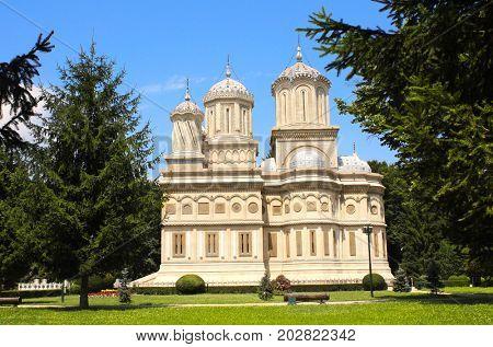 Orthodox Assumption Cathedral in Curtea de Arges monastery, Wallachia, Romania