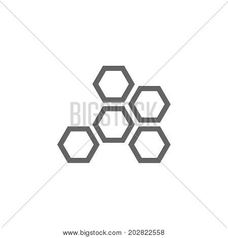 Simple honeycombs line icon. Symbol and sign vector illustration design. Editable Stroke. Isolated on white background