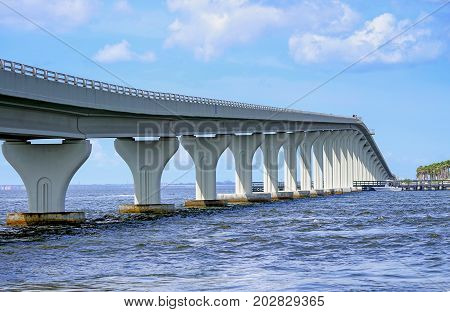 W Courtney Campbell Causeway Trial between Clearwater and Tampa Florida USA