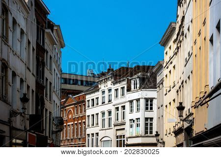 ancient buildings at Brussels, Belgium