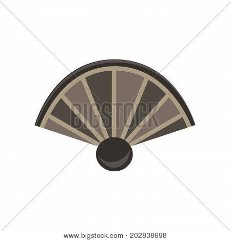 Hand fan flat icon china isolated vector