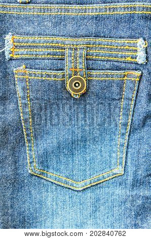 closeup pocket on jeans fashion texture background