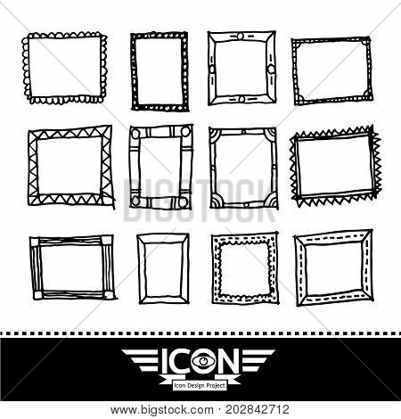 an images of Or pictogram frame hand drawn