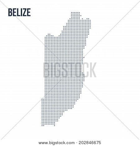 Vector Dotted Map Of Belize Isolated On White Background .