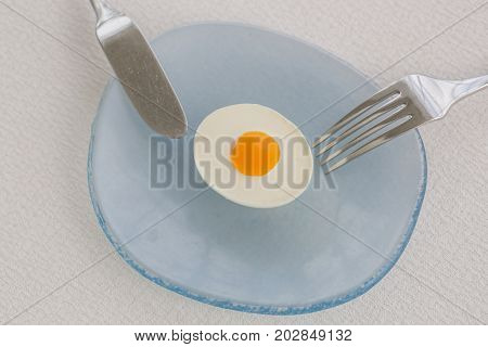 Good morning! Fried egg in the plate