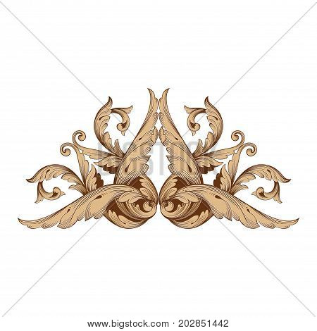 Baroque vector set of vintage elements for design. Decorative design element filigree calligraphy vector. You can use for wedding decoration of greeting card and laser cutting.