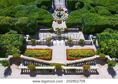 Tremezzo Italy - August 30 2010: The Villa Carlotta garden