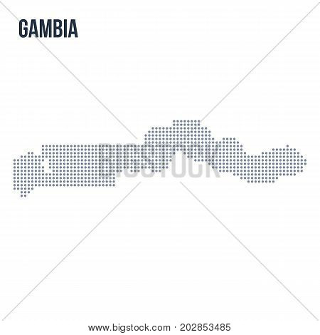 Vector Dotted Map Of Gambia Isolated On White Background .
