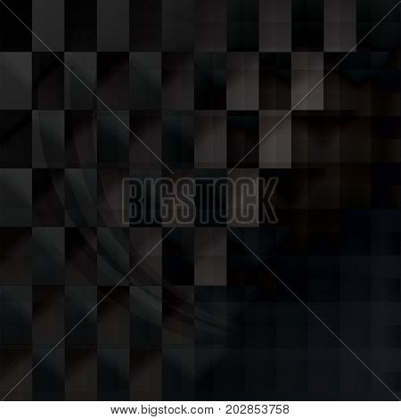 Abstract dark overlapping squares with shadows make feel scared