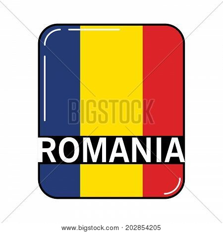National flag and ensign of the Romania.European country. European Union.Irish tricolour.Concept of design of a poster, banner, icon or the leaflet for the website or a mobile application