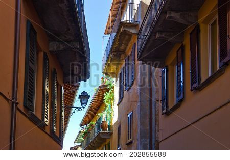 Bellagio Italy - August 31 2010: An alley in the country center
