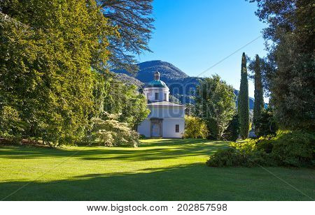 Bellagio Italy - August 31 2010: The Villa Melzi garden on the Como lake