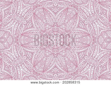 Graphics with abstract concentric outline pink pattern