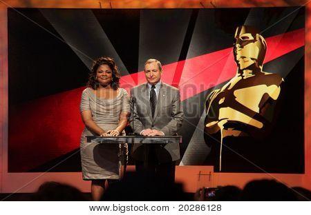 LOS ANGELES - 25 de enero: Mo'Nique & Tom Sherak anunciar las nominaciones para la 83ª o premios de la Academia