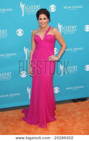 LAS VEGAS - APR 18:  Hillary Scott arrives at the 45th Academy of Country Music Awards  on April 18,2010 in Las Vegas, NV