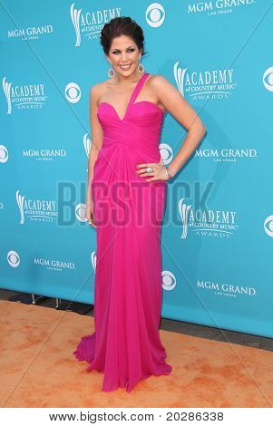 LAS VEGAS - APR 18:  Hillary Scott arrives at the 45th Academy of Country Music Awards  on April 18, 2010 in Las Vegas, NV