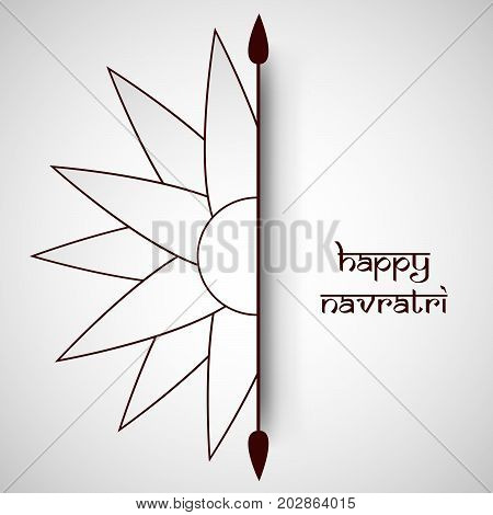 illustration of flower design with Happy Navratri text on the occasion of hindu festival Navratri