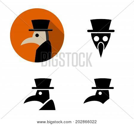 Set of Plague doctor icons vector design