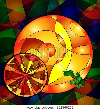 background variation vwth abstract image of colored yellow orange consisting of lines