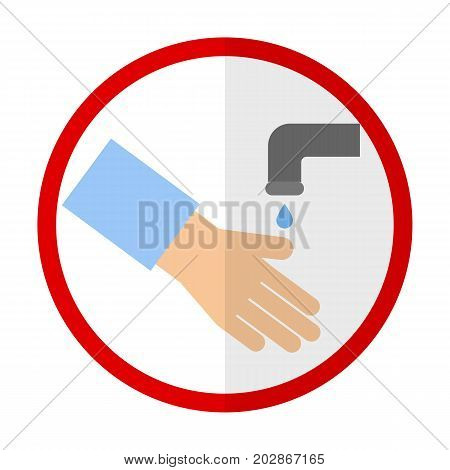 Washing hands flat icon, vector sign, colorful pictogram isolated on white. Symbol, logo illustration. Flat style design