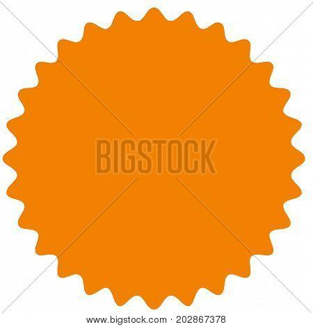 Vector starburst, sunburst badge. Orange color. Simple flat style Vintage  label, sticker. Design elements. Vector illustration