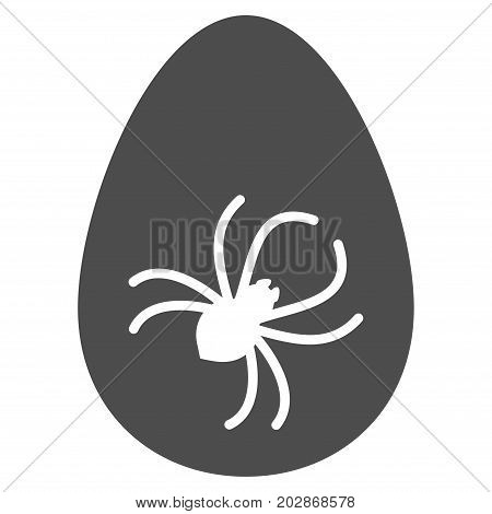 Parasite Egg vector pictogram. Style is flat graphic gray symbol.