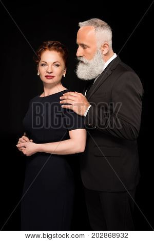 Man Touching Woman On Shoulder